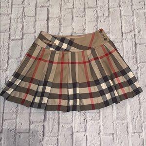 Burberry Plaid Pleated Skirt 12Y